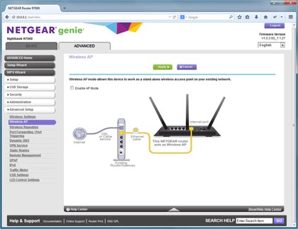 Netgear R7000 AC1900 Nighthawk Smart WiFi Router