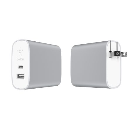 Dual Port Home Charger 27W + USB-C to USB-A Cable